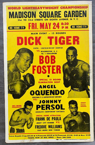 FOSTER, BOB-DICK TIGER ON SITE POSTER (1968)