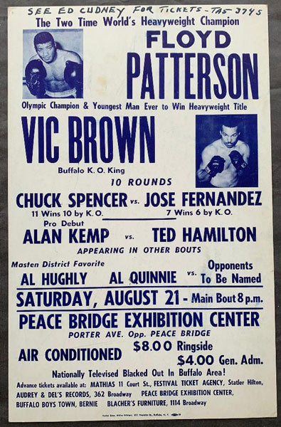 PATTERSON, FLOYD-VIC BROWN ON SITE POSTER (1971)