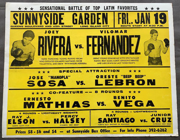 FERNANDEZ, VILOMAR-JOSE RIVERA ON SITE POSTER (1973)