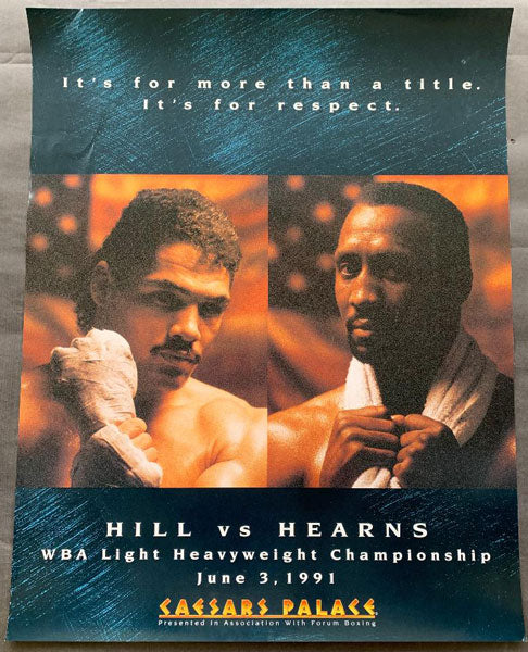 HEARNS, THOMAS-VIRGIL HILL ON SITE POSTER (1991)
