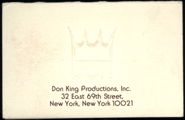 KING, DON BUSINESS CARD