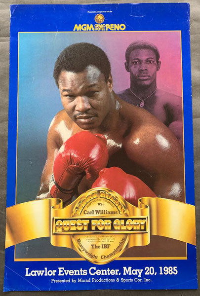 "HOLMES, LARRY-CARL ""THE TRUTH"" WILLIAMS ON SITE POSTER (1985)"