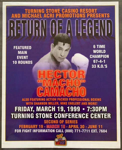 "CAMACHO, HECTOR ""MACHO""-SCOTT SMITH ON SITE POSTER (1999)"