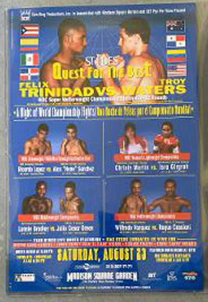 TRINIDAD, FELIX-TROY WATERS & RICARDO LOPEZ-ALEX SANCHEZ ON SITE POSTER (1997)