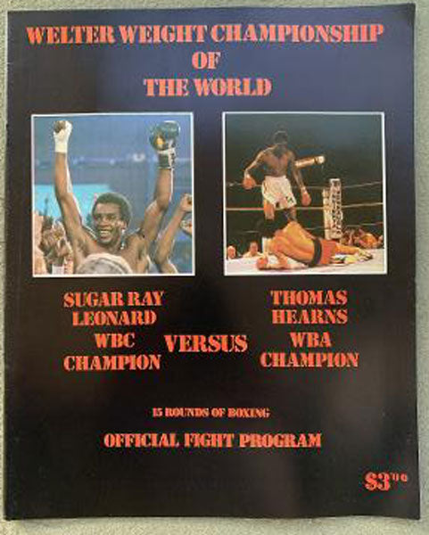 LEONARD, SUGAR RAY-THOMAS HEARNS I OFFICIAL PROGRAM (1981)