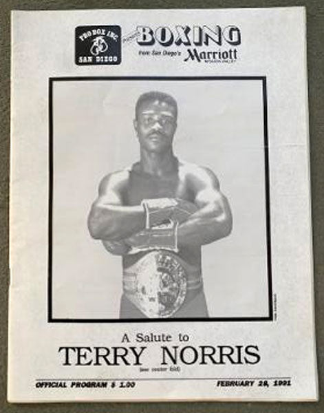 NORRIS, TERRY SALUTE TO OFFICIAL PROGRAM (1991)