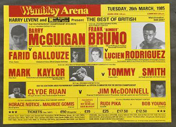 MCGUIGAN, BARRY-FARID GALLOUZE ON SITE POSTER (1985)
