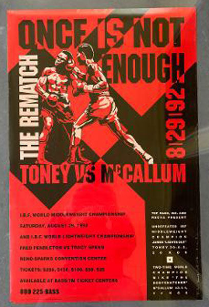 MCCALLUM, MIKE-JAMES TONEY II ON SITE POSTER (1992)