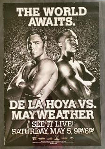 MAYWEATHER, JR., FLOYD-OSCAR DE LA HOYA ON SITE POSTER (2007)