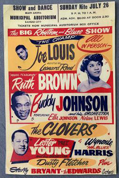 LOUIS, JOE RHYTHM & BLUES SHOW ON SITE POSTER (1953)