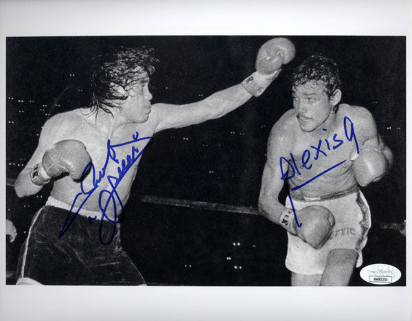 ARGUELLO, ALEXIS & RUBEN OLIVARES SIGNED PHOTO (SIGNED BY BOTH-JSA)