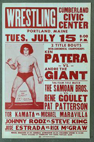 ANDRE THE GIANT-KEN PATERA ON SITE POSTER (1980)
