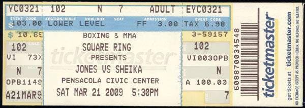 JONES, JR., ROY-OMAR SHEIKA FULL TICKET (2009)