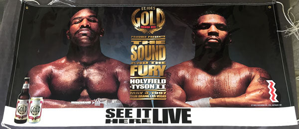 TYSON, MIKE-EVANDER HOLYFIELD II ADVERTISING BANNER (1997)