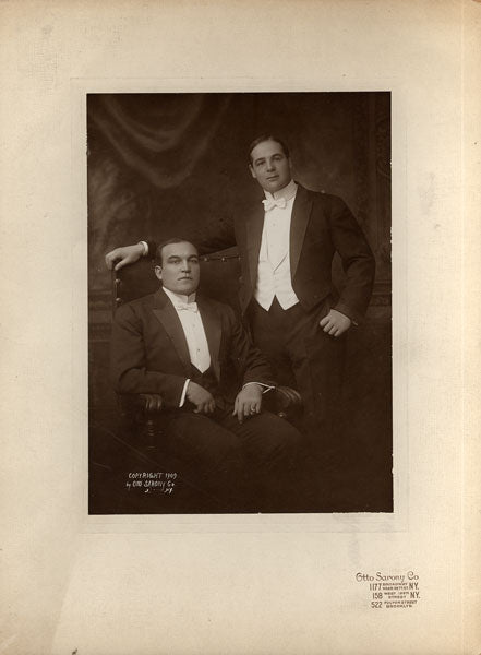 JEFFRIES, JAMES & SAM BERGER ORIGINAL MOUNTED PHOTO (1909)
