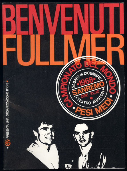 BENVENUTI, NINO-DON FULLMER ORIGINAL OFFICIAL PROGRAM (1968)