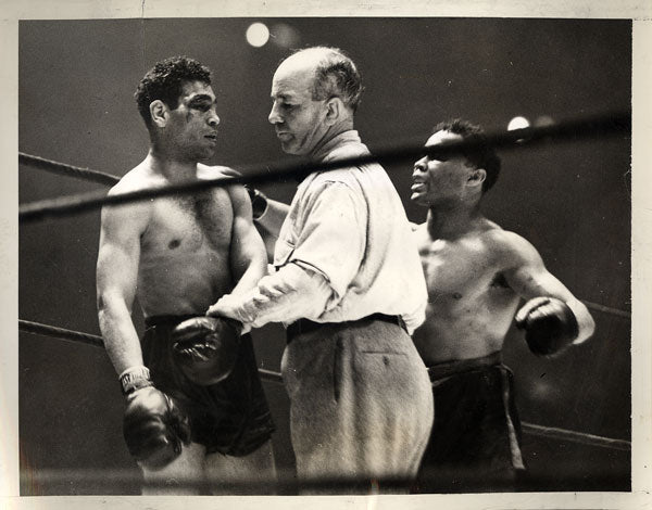 ARMSTRONG, HENRY-PEDRO MONTANEZ WIRE PHOTO (1940-END OF FIGHT)