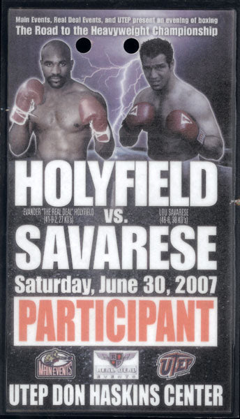 HOLYFIELD, EVANDER-LOU SAVARESE CREDENTIAL (2007-PARTICIPANT)