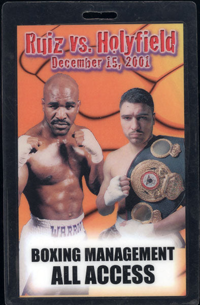 HOLYFIELD, EVANDER-JOHNNY RUIZ III ALL ACCESS CREDENTIAL (2001)