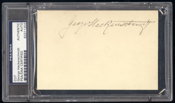 HACKENSCHMIDT, GEORGE INK SIGNATURE (PSA/DNA)