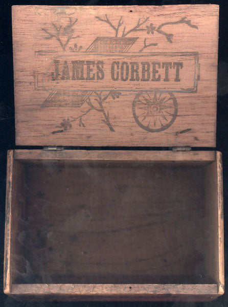 CORBETT, JAMES J. ADVERTISING CIGAR BOX