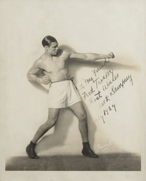 DEMPSEY, JACK VINTAGE SIGNED PHOTO (1924-AS WORLD HEAVYWEIGHT CHAMPION)