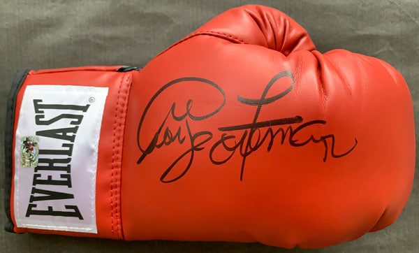 FOREMAN, GEORGE SIGNED BOXING GLOVE ((GEORGE FOREMAN AUTHENTICS)