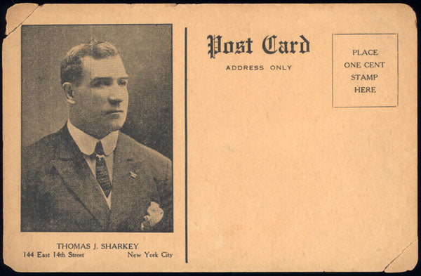 SHARKEY, TOM PROMOTIONAL POSTCARD
