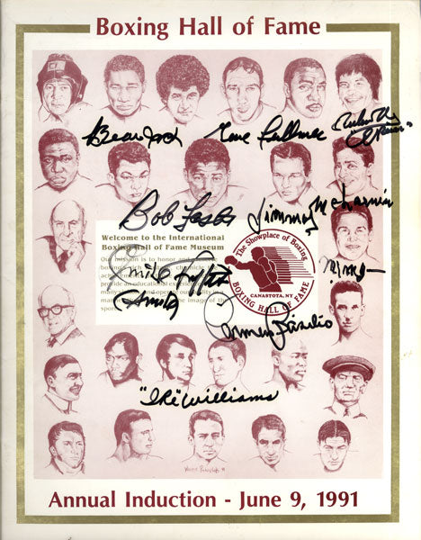1991 BOXING HALL OF FAME SIGNED PROGRAM (ZALE JACK. WILLIAMS & OTHERS)