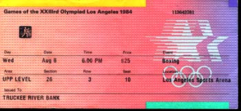 1984 OLYMPICS BOXING TICKET (HOLYFIELD, WHITAKER, BRELAND)