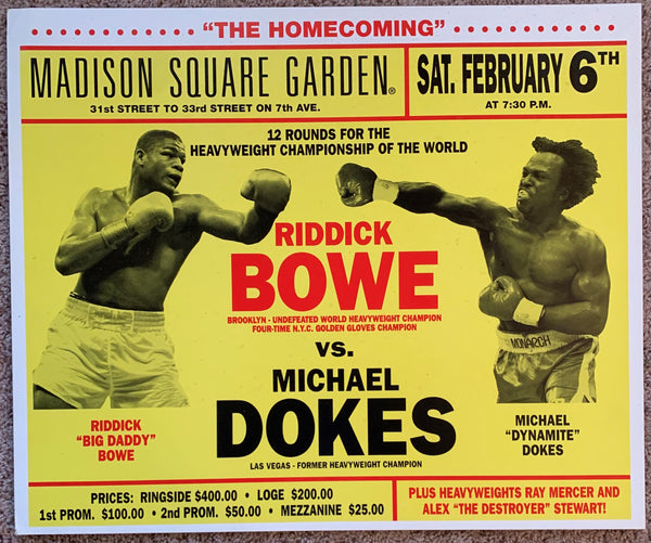 BOWE, RIDDICK-MICHAEL DOKES ON SITE POSTER (1993)