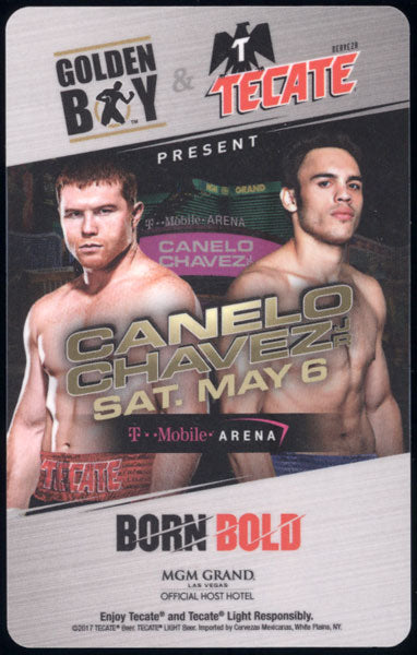ALVAREZ, CANELO-JULIO CESAR CHAVEZ, JR. ROOM KEY (2017)