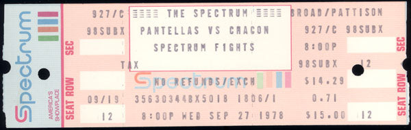 CHACON, BOBBY-AUGIE PANTELLAS FULL TICKET (1978)
