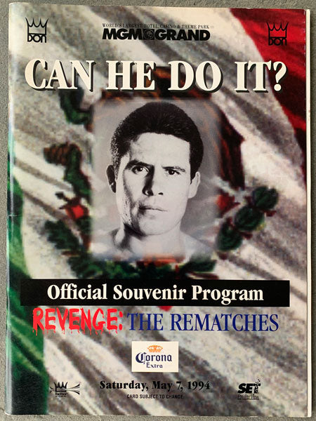 CHAVEZ, JULIO CESAR-FRANKIE RANDALL II OFFICIAL PROGRAM (1994-SIGNED BY NORRIS, LEIJA, BROWN & JACKSON))