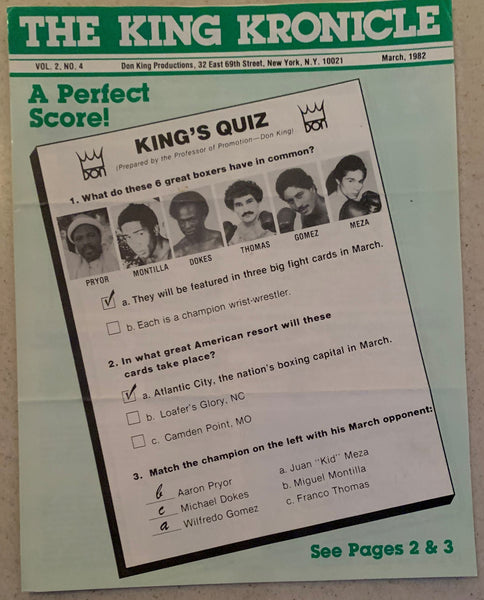 DOKES, MICHAEL-FRANCO THOMAS SOUVENIR KINGS KRONICLE PROGRAM (1982)