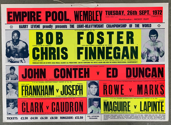 FOSTER, BOB-CHRIS FINNEGAN ON SITE POSTER (1972)