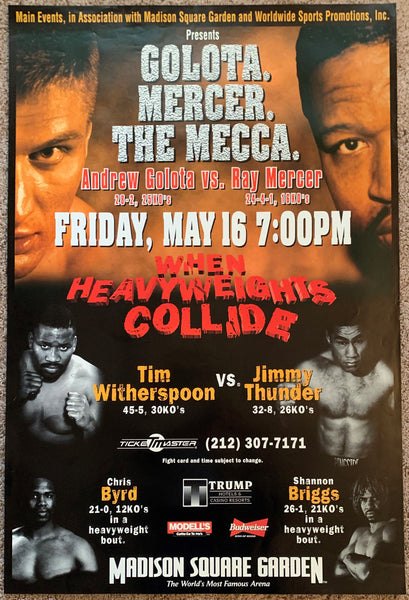 ANDREW GOLOTA-RAY MERCER & TIM WITHERSPOON-JIMMY THUNDER & CHRIS BYRD-SHANNON BRIGGS ON SITE POSTER (1997)
