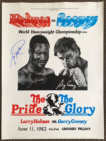 HOLMES, LARRY-GERRY COONEY SIGNED POSTER (1982-SIGNED BY HOLMES)