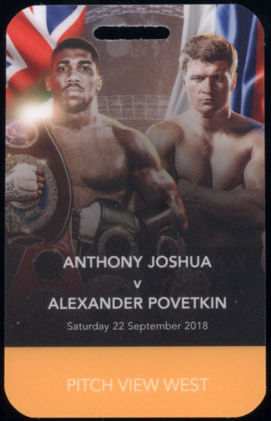 JOSHUA, ANTHONY-ALEXANDER POVETKIN CREDENTIAL (2018)