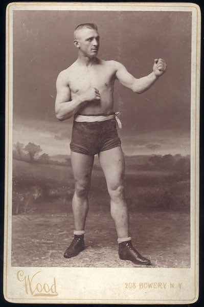 "LAVIGNE, GEORGE ""KID"" ORIGINAL CABINET CARD (JOHN WOOD STUDIO)"