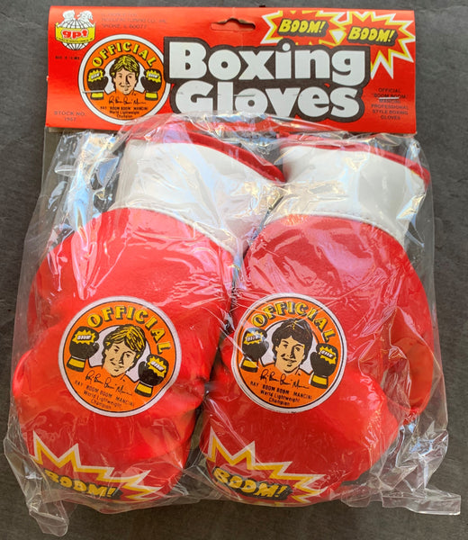"MANCINI, RAY ""BOOM BOOM"" CHILD""S BOXING GLOVES (ORIGINAL PACKAGING-CIRCA 1980'S)"