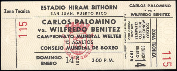 BENITEZ, WILFRED-CARLOS PALOMINO FULL TICKET (1979)