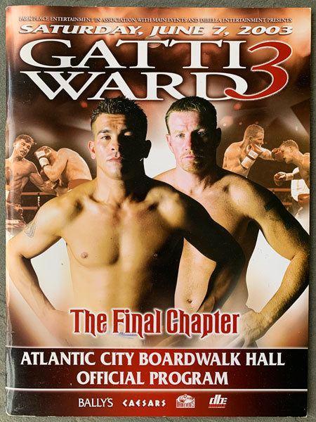 GATTI, ARTURO-MICKY WARD III OFFICIAL PROGRAM (2003)