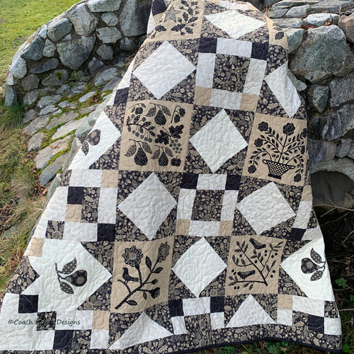 Listen With Your Heart quilt pattern from Coach House Designs