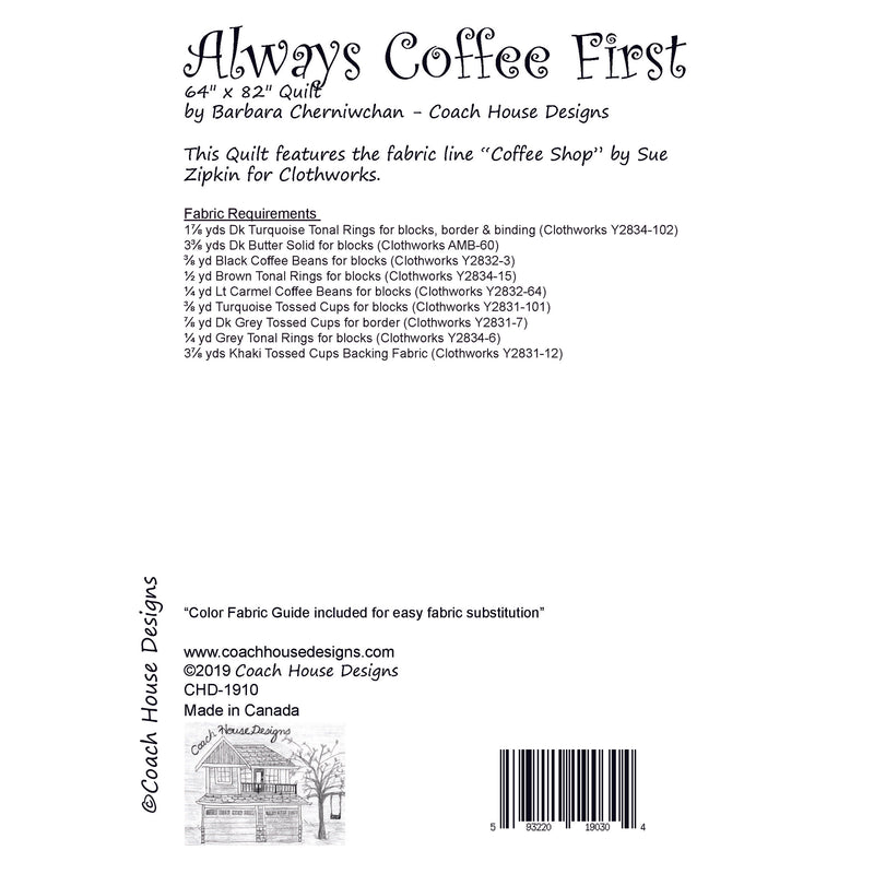Always Coffee First Digital Pattern