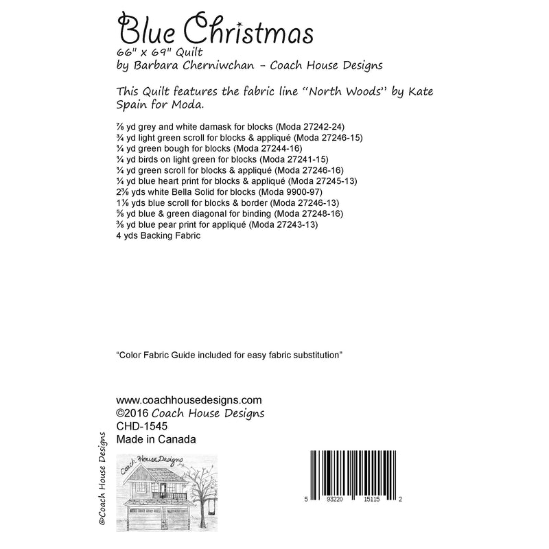 Blue Christmas Digital Pattern