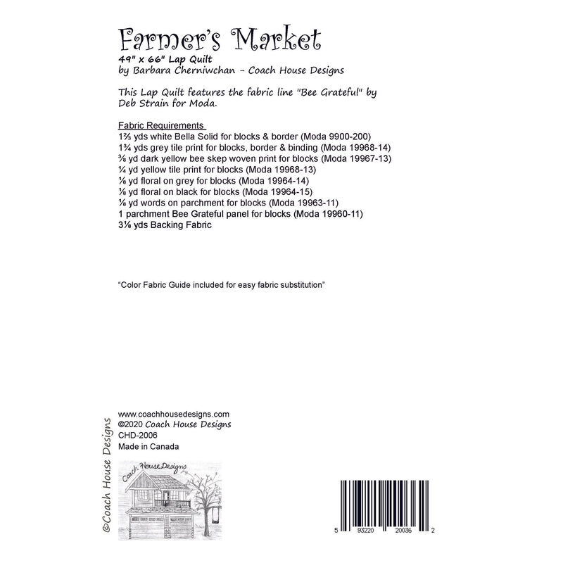 Farmer's Market Digital Pattern