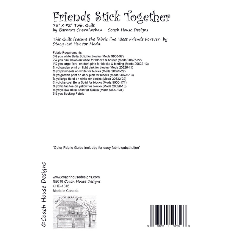 Friends Stick Together Digital Pattern