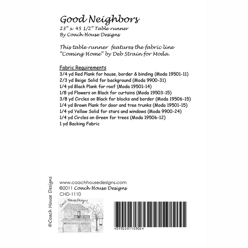 Good Neighbors Digital Pattern