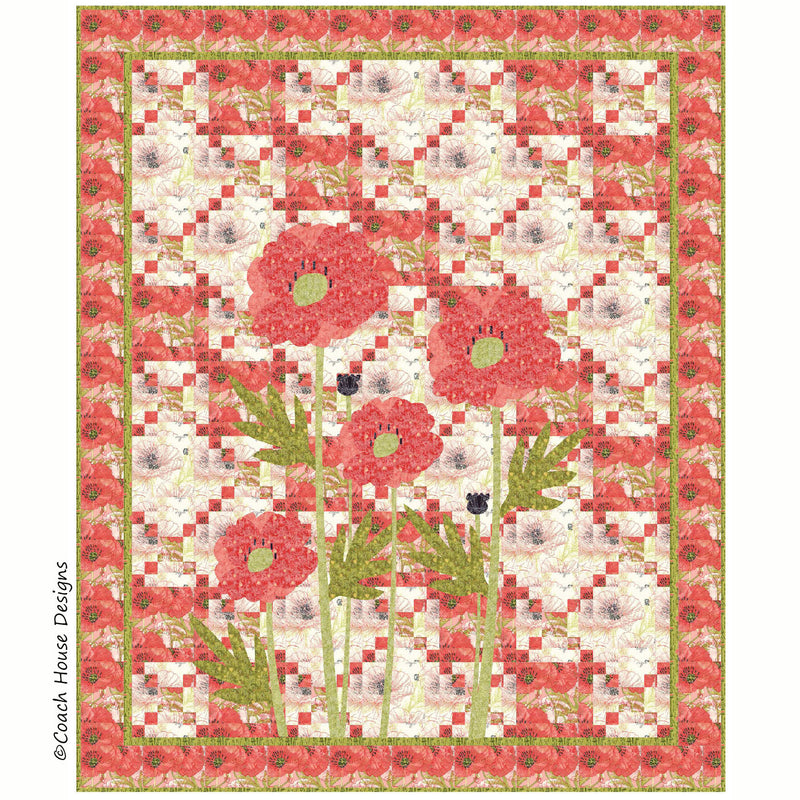 Poppy Garden Digital Pattern